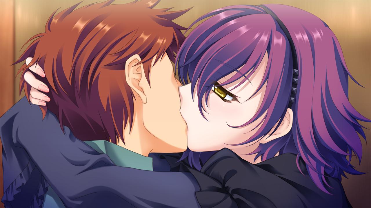 astraythem game_cg ginta headband kiss male nagi_kuurin sakurazuka_tsukumo short_hair yellow_eyes