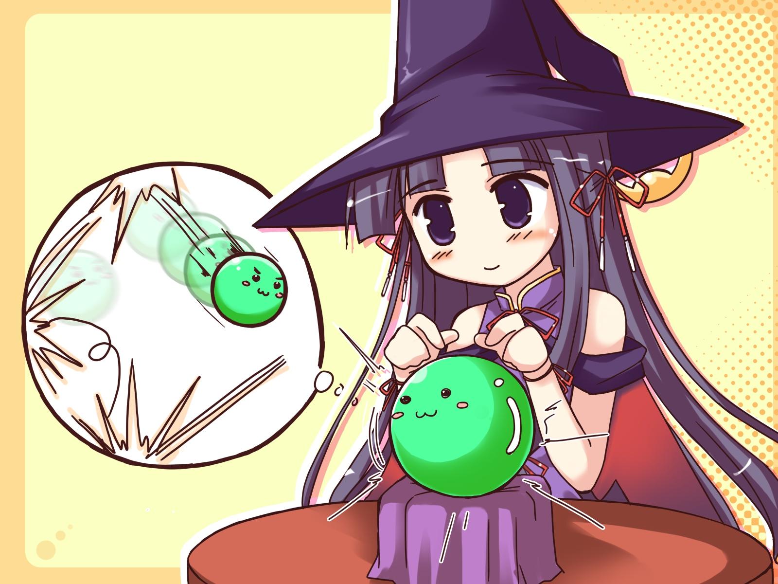happiness hat takamine_koyuki witch yellow