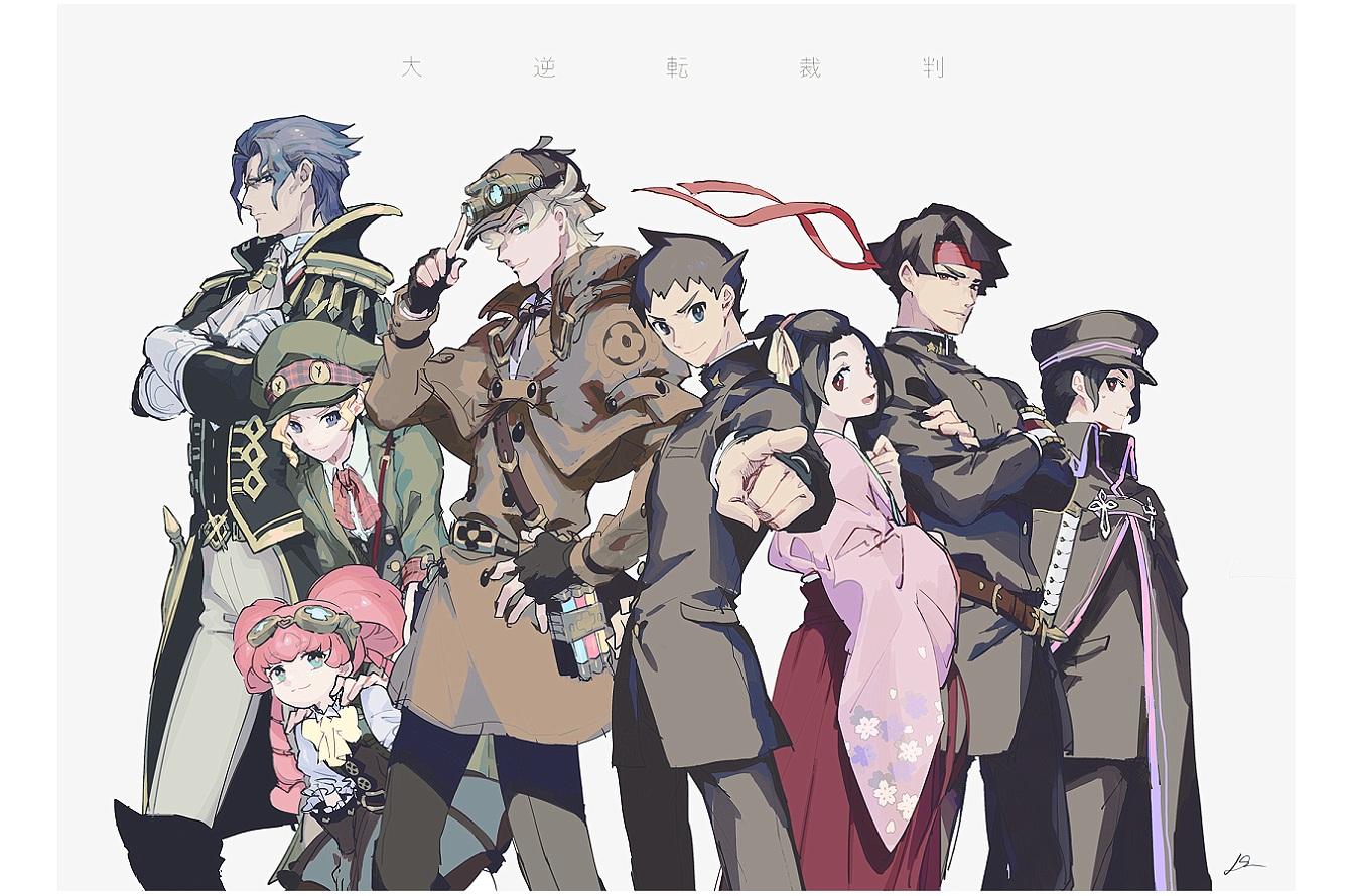 domu_(hamadura) group gyakuten_saiban japanese_clothes loli male tagme tagme_(character)