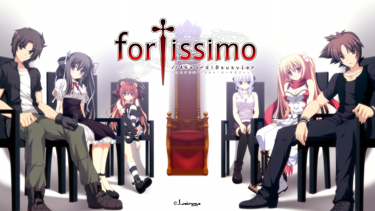 fortissimo//akkord:bsusvier game_cg group kurobane_sayuki male ooba_kagerou sakura_(fortissimo) satomura_momiji sumeragi_ryuuichi suzushiro_nagisa yoshino_reiji