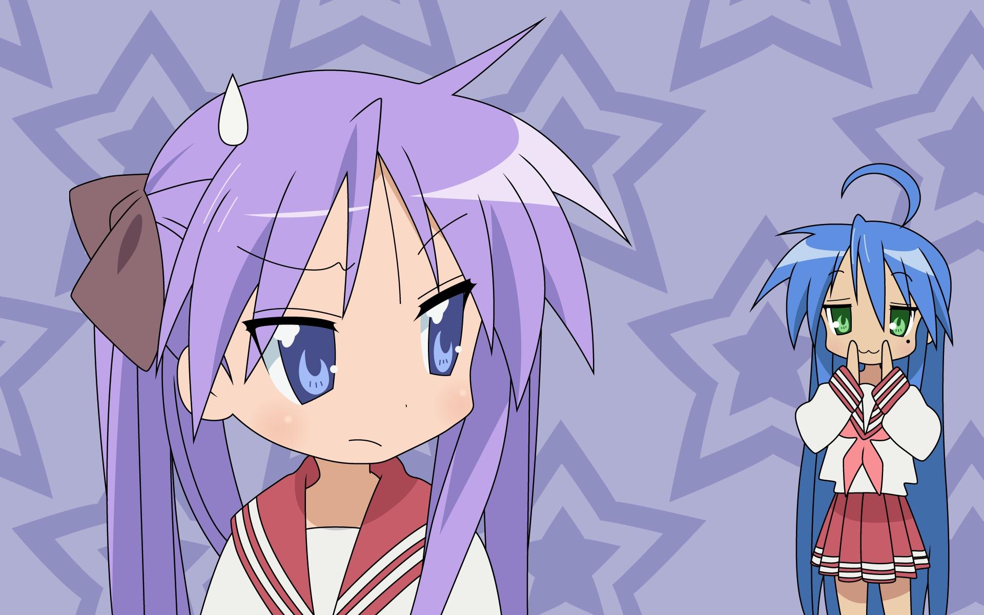 cat_smile hiiragi_kagami izumi_konata lucky_star seifuku stars