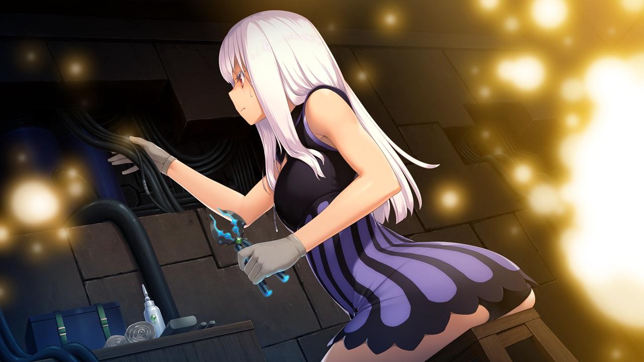 ackley ass game_cg gloves long_hair panties sono_kojou_ni_yuusha_hou_ari! tagme_(artist) underwear white_hair