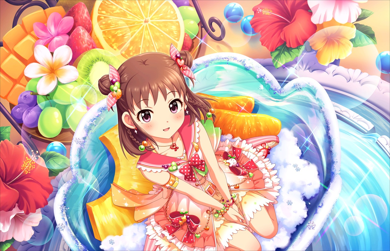 annin_doufu food fruit idolmaster idolmaster_cinderella_girls idolmaster_cinderella_girls_starlight_stage loli lolita_fashion munakata_atsumi strawberry