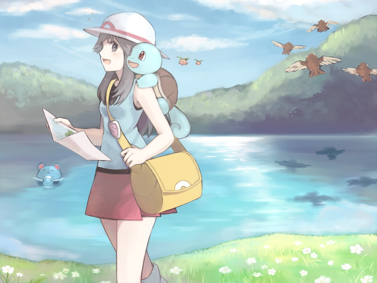 hoppip leaf_(pokemon) marill pidgey pokemon squirtle usanoha