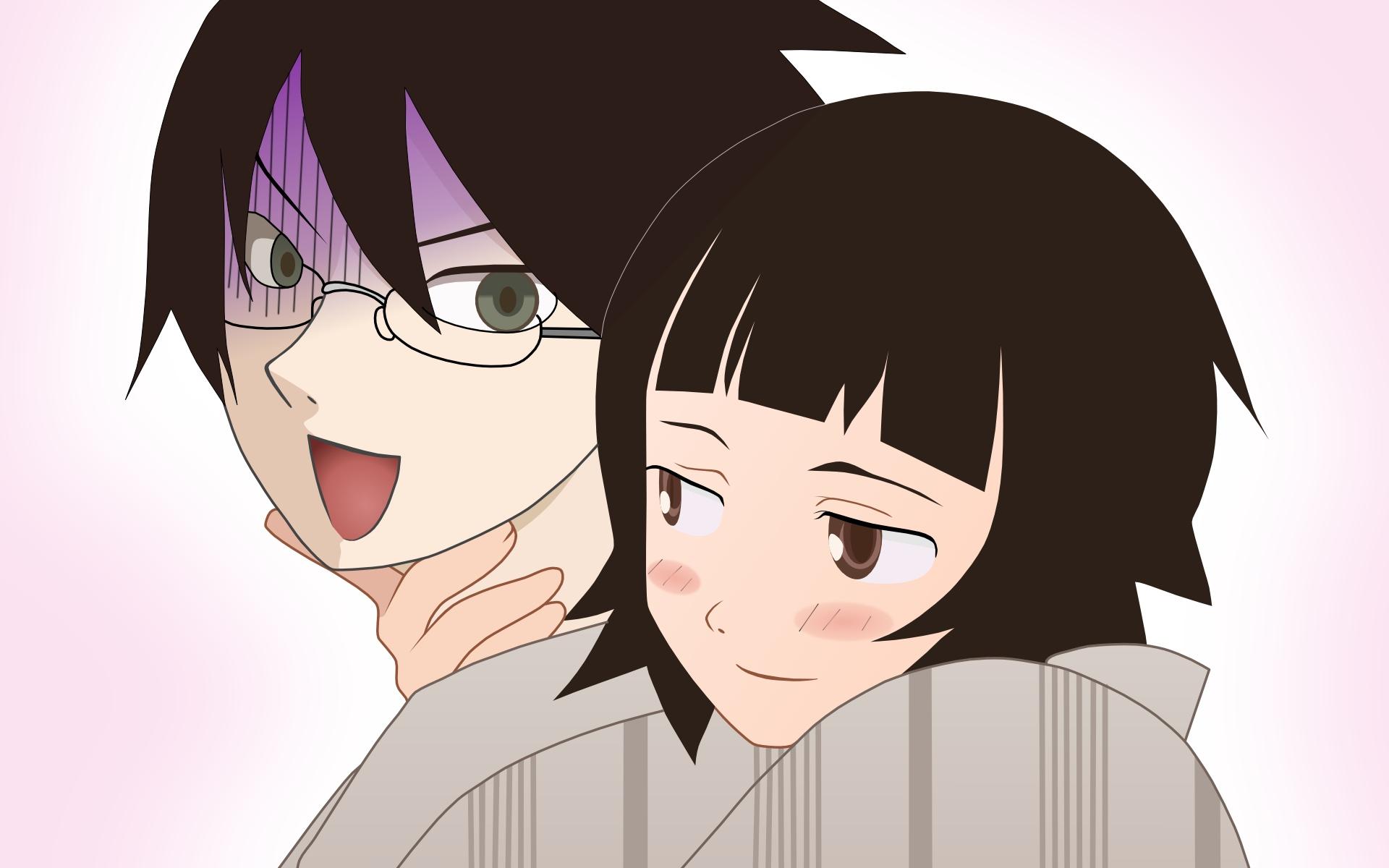 blush glasses itoshiki_nozomu sayonara_zetsubou_sensei tsunetsuki_matoi