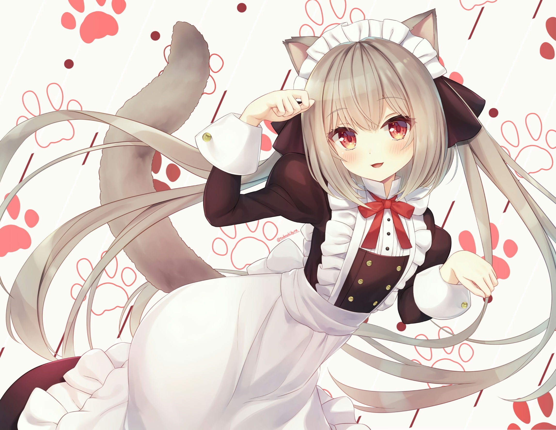 animal ears blush catgirl guitar instrument k-on! nakano