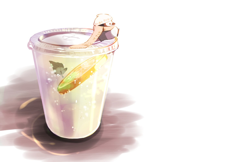 animal chai_(artist) drink food fruit hat leaves nobody original penguin polychromatic scarf signed