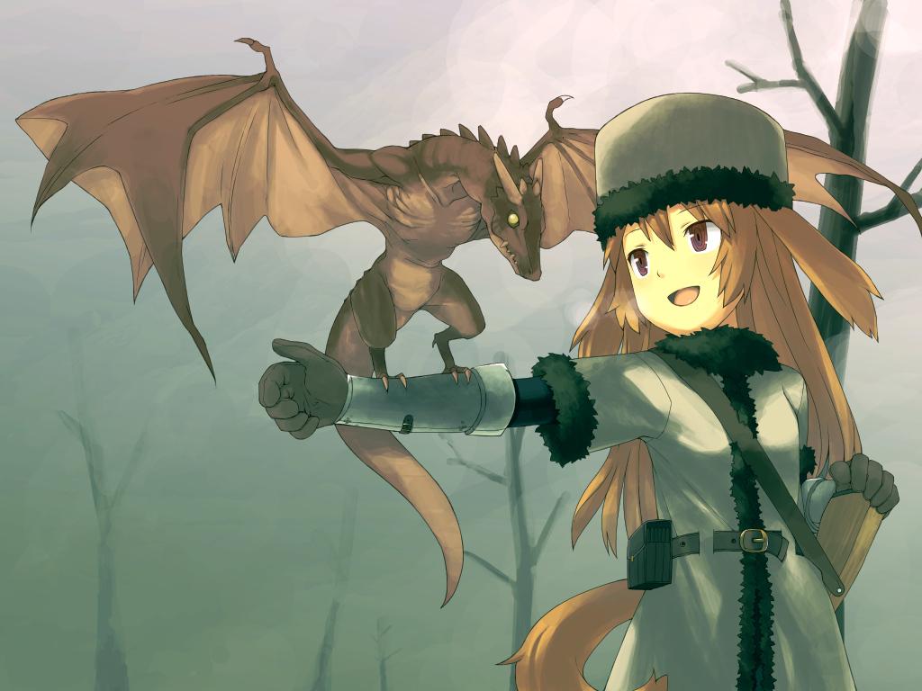 brown_eyes brown_hair dragon ikura_hato tagme tail