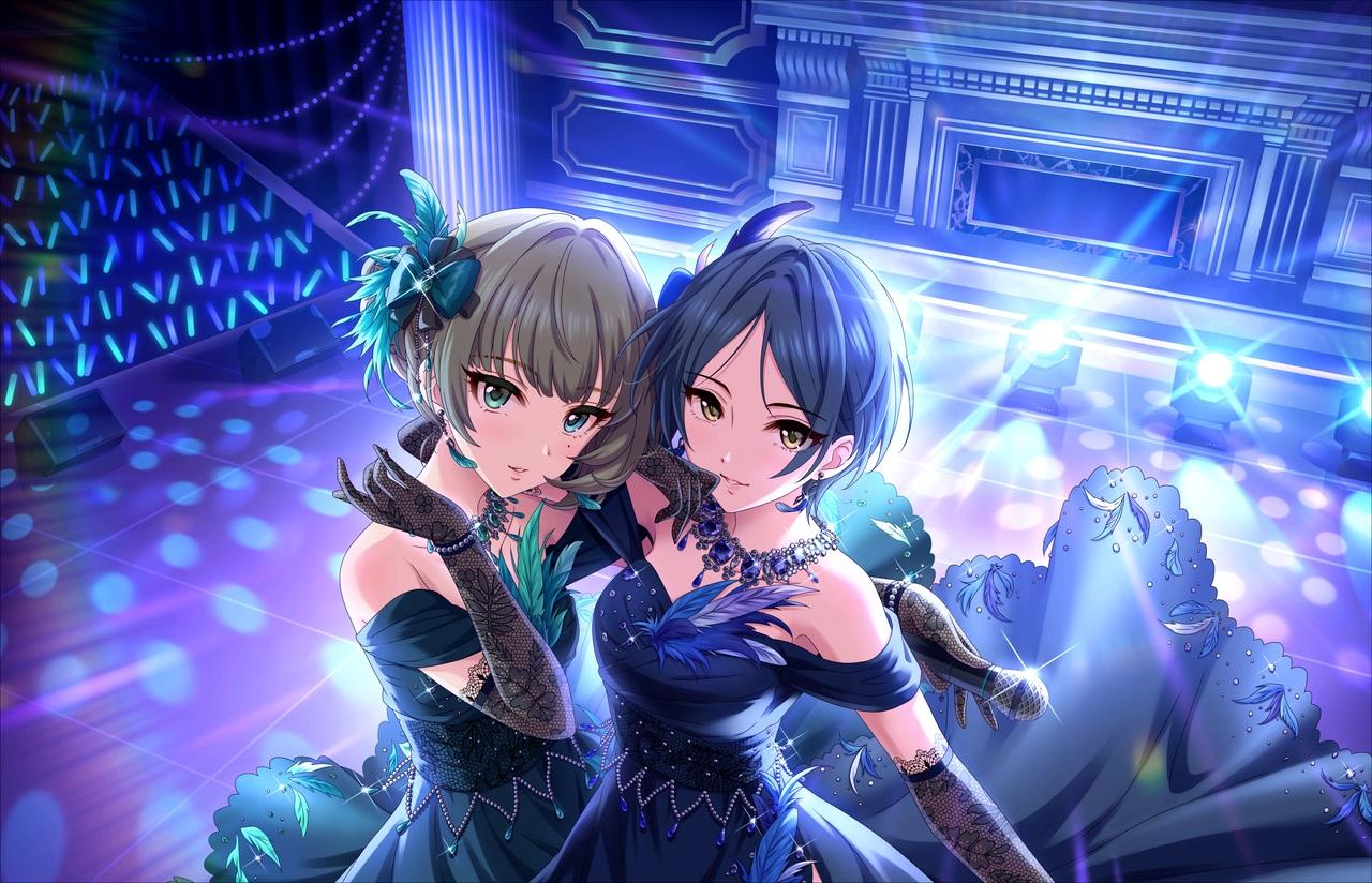 2girls annin_doufu hayami_kanade idolmaster idolmaster_cinderella_girls idolmaster_cinderella_girls_starlight_stage takagaki_kaede