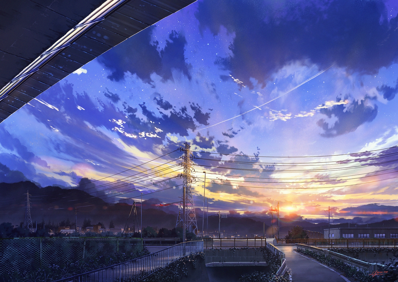 building clouds niko_p nobody original scenic signed sky stars sunset