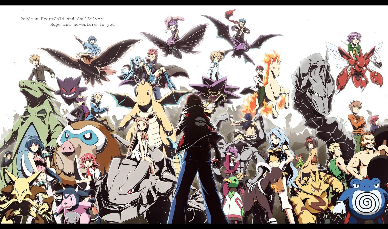akane_(pokemon) akkijin alakazam anzu_(pokemon) bellossom crobat dragonite electabuzz erika_(pokemon) gengar hayato houndoom ibuki_(pokemon) itsuki_(pokemon) karin_(pokemon) kasumi_(pokemon) katsura_(pokemon) kingdra kyou machamp machisu mamoswine matsuba mikan_(pokemon) miltank natsume_(pokemon) onix ookido_green pidgeot pikachu pokemon poliwrath rapidash red_(pokemon) sakaki_(pokemon) scizor shiba_(pokemon) shijima_(pokemon) silver starmie steelix takeshi_(pokemon) tsukushi tyranitar venomoth wataru_(pokemon) xatu yanagi_(pokemon)