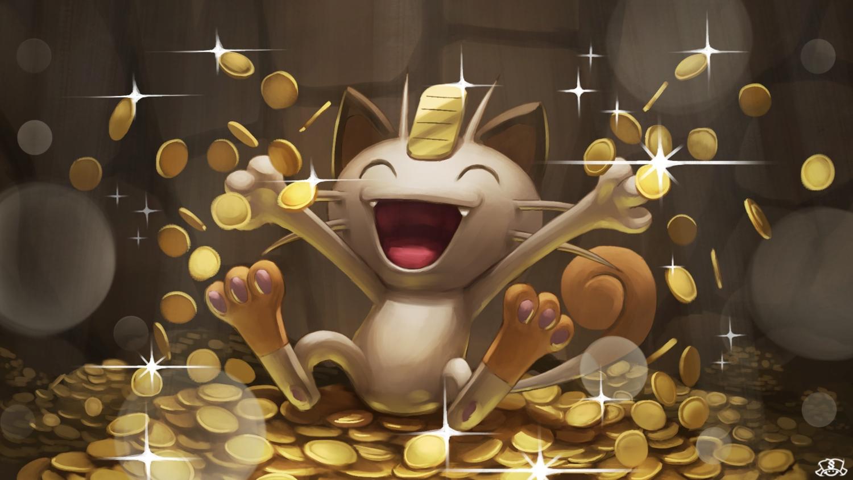 animal cat meowth nobody pokemon supearibu watermark