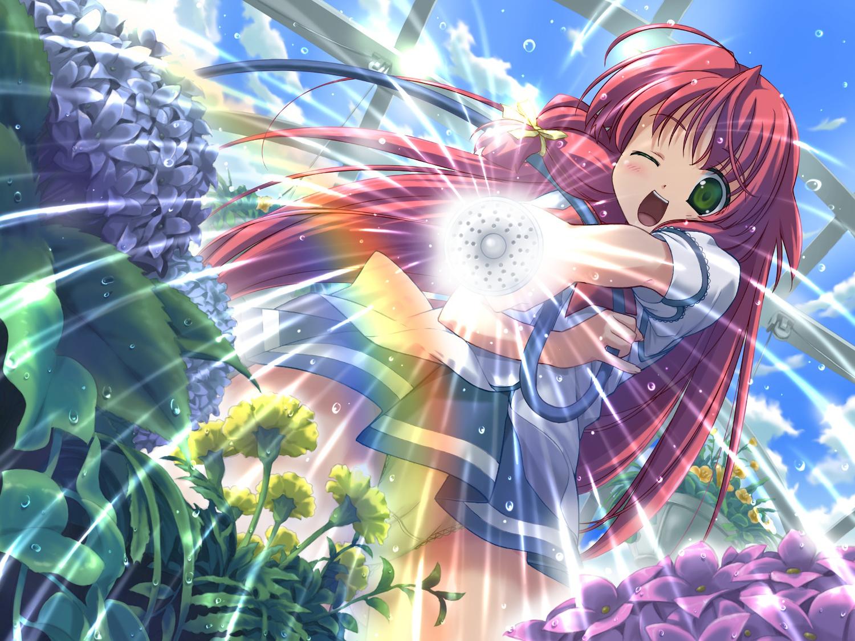 angel_wish chitose_mizuki favorite game_cg green_eyes long_hair red_hair