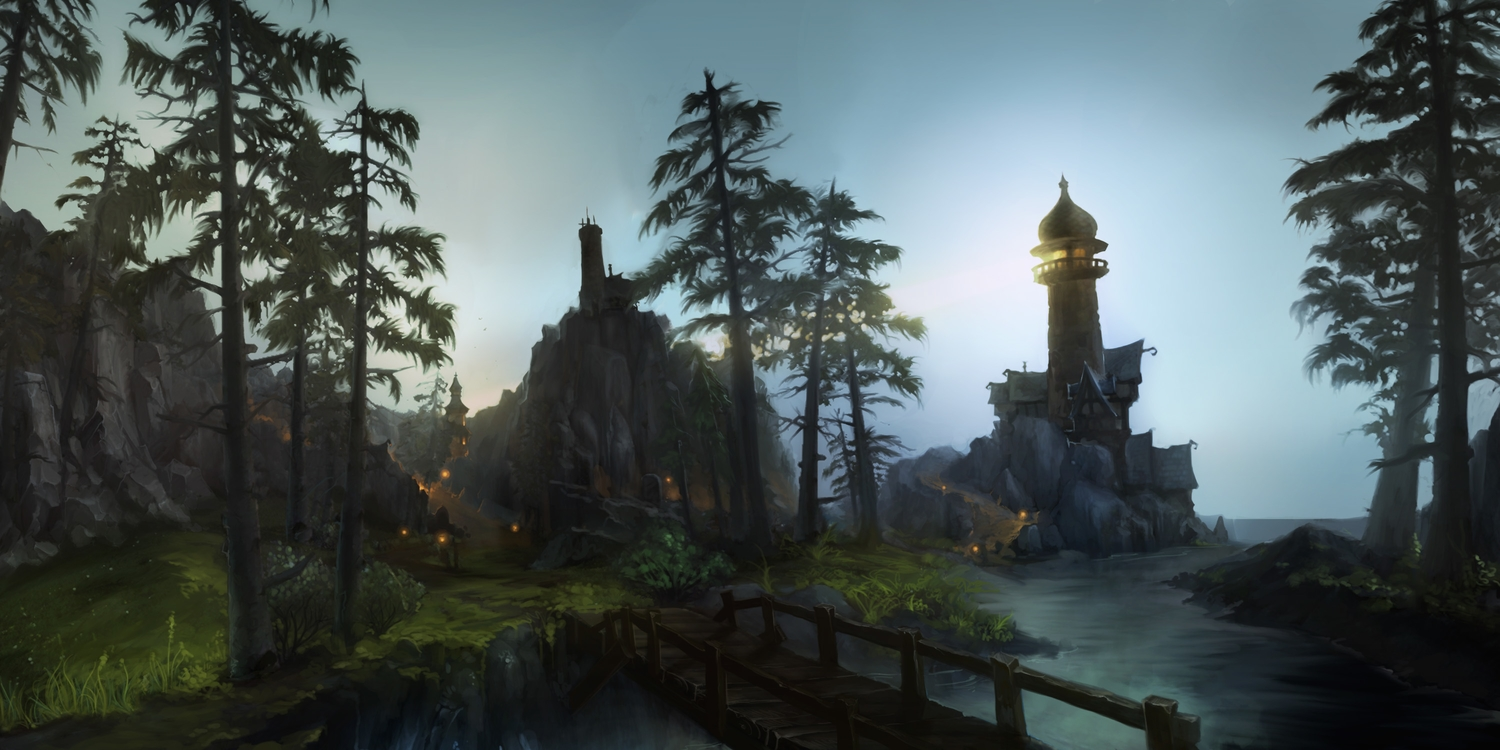 building landscape leaves nobody scenic tree water world_of_warcraft