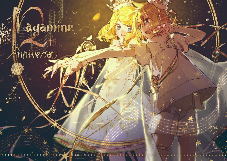 kagamine_len kagamine_rin male mikka620 vocaloid