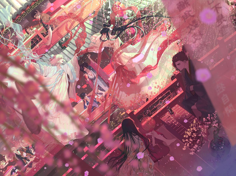 chacha_(fate/grand_order) fate/grand_order fate_(series) hijikata_toshizou_(fate) loli mori_nagayoshi_(fate) okada_izou_(fate) okita_souji_(fate) sakamoto_ryouma tagme_(artist)