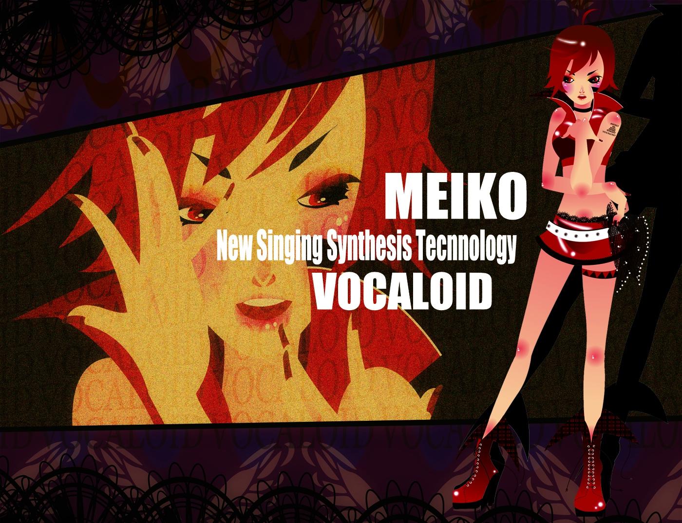 blush meiko red_eyes red_hair short_hair skirt vocaloid zoom_layer