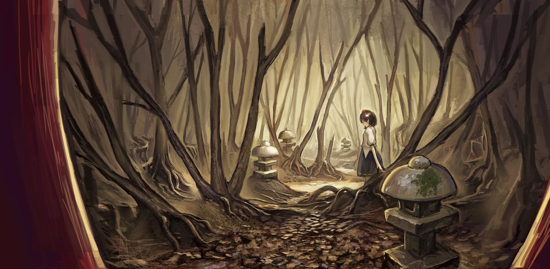 fjsmu forest shameimaru_aya touhou tree
