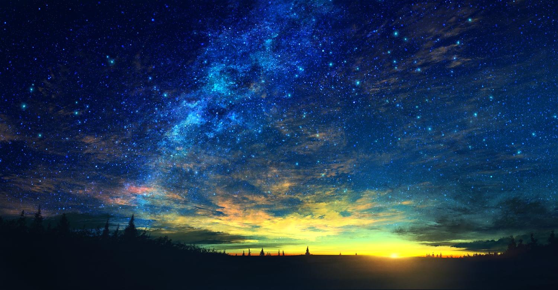 clouds mks nobody original scenic silhouette sky stars sunset