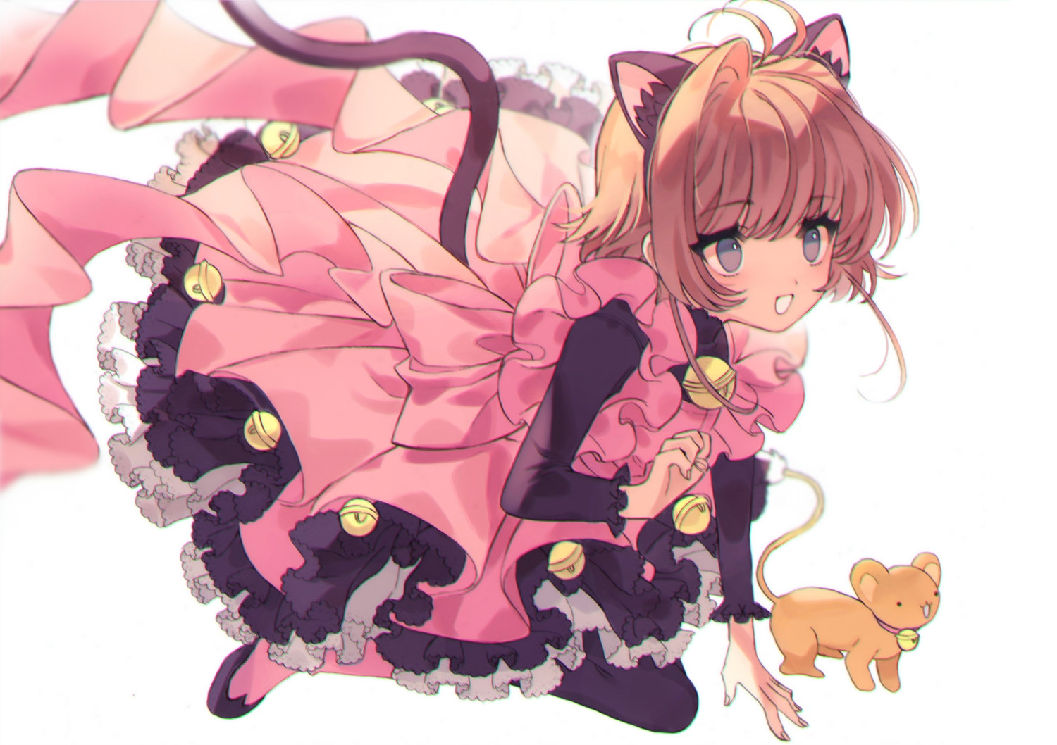 animal_ears bell card_captor_sakura catgirl kero kinomoto_sakura lolita_fashion tail yasiromann