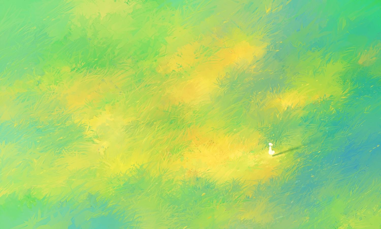 grass green heriki_(trkj) original polychromatic silhouette