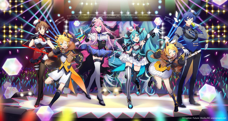 group hatsune_miku kagamine_len kagamine_rin kaito magical_mirai_(vocaloid) male megurine_luka meiko sogawa66 vocaloid