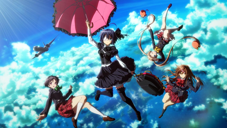 chuunibyou_demo_koi_ga_shitai! dekomori_sanae eyepatch goth-loli group lolita_fashion nibutani_shinka school_uniform tagme_(artist) takanashi_rikka thighhighs third-party_edit tsuyuri_kumin umbrella