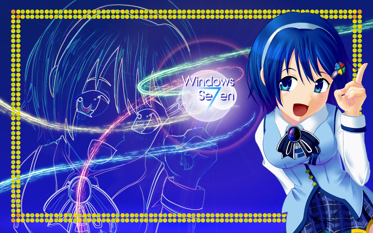 aqua_eyes blue blue_hair bow headband jpeg_artifacts madobe_nanami microsoft os-tan short_hair skirt windows zoom_layer