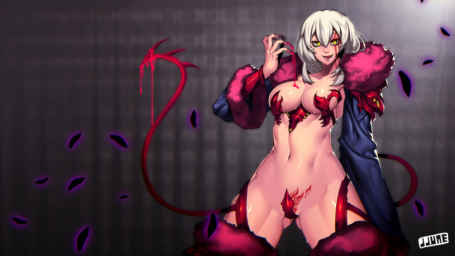 Anime hot nude bad girl with demon  nackt images