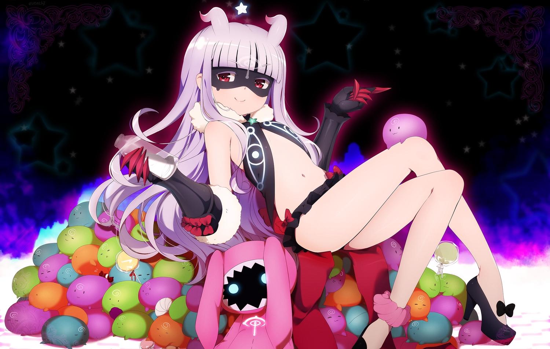 doll eventh7 hoshimiya_kate loli long_hair mask purple_hair red_eyes sekai_seifuku:_bouryaku_no_zvezda