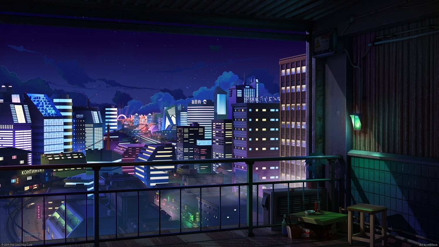 3d building city clouds mb0sco night nobody original scenic sky stars the_jazz_hop_cafe watermark