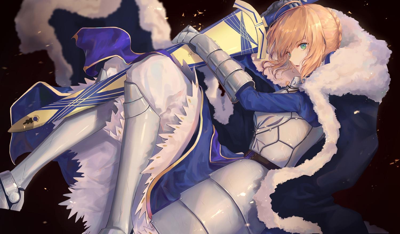 armor artoria_pendragon_(all) blonde_hair fate_(series) fate/stay_night pigonhae saber sword tagme weapon