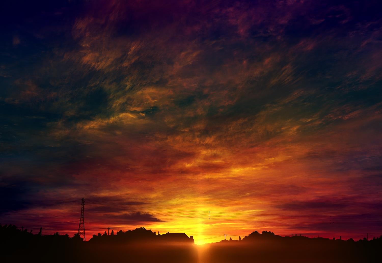 clouds mks nobody original scenic silhouette sky sunset