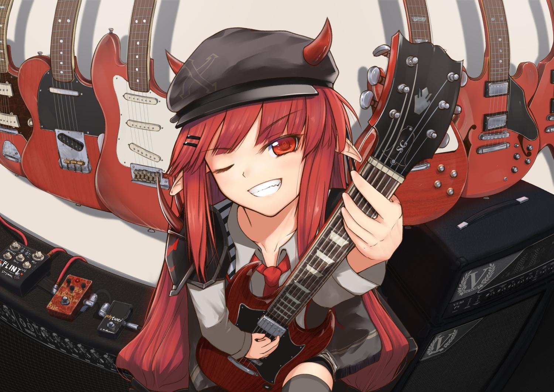 arknights guitar instrument j_orange tagme vigna_(arknights)