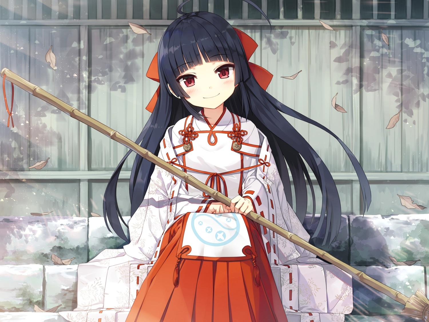 ayakashi_kyoushuutan black_hair cura himemiya_(monobeno) japanese_clothes long_hair lose miko monobeno red_eyes