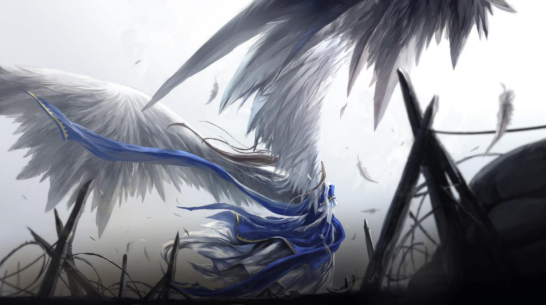 aa_megami-sama belldandy dress feathers kzcjimmy wings