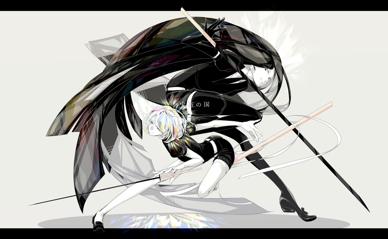 anthropomorphism bort diamond_(houseki_no_kuni) houseki_no_kuni polychromatic s003