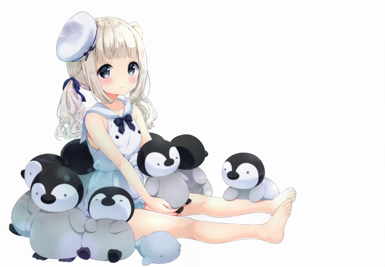 animal loli neki_(wakiko) original penguin scan