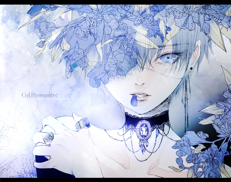 all_male ciel_phantomhive kuroshitsuji male polychromatic satsuki_kei sketch trap