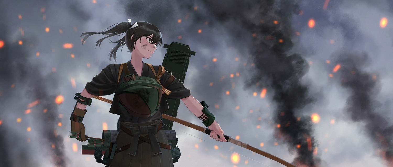 anthropomorphism bow_(weapon) kantai_collection weapon yue_(tada_no_saboten) zuikaku_(kancolle)