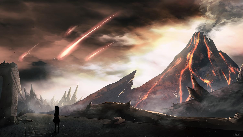 original saraki scenic signed silhouette sky