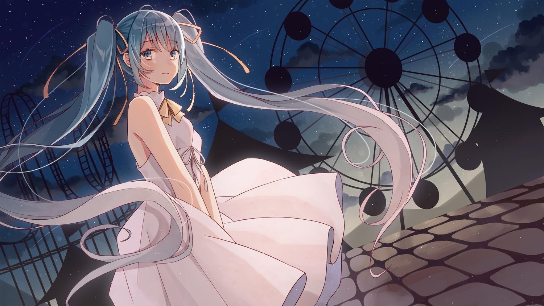 dress hatsune_miku long_hair nagitoki twintails vocaloid