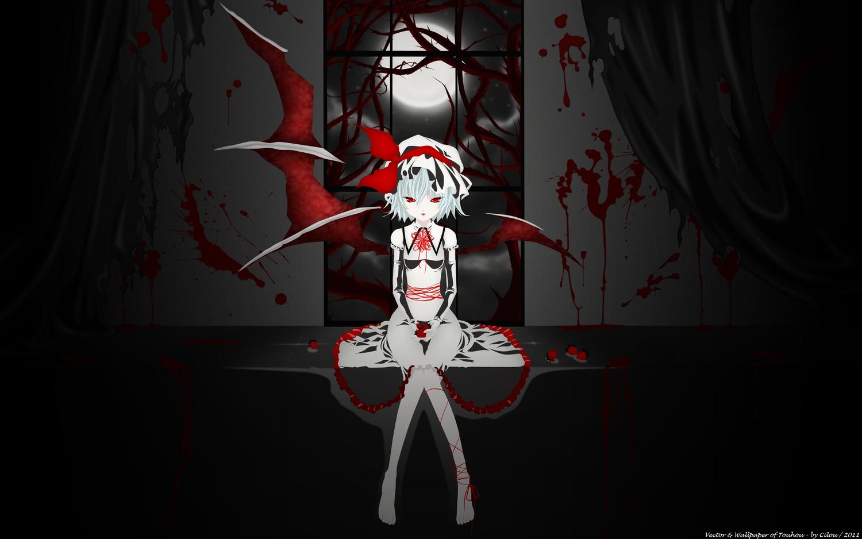 Аниме девушка в крови