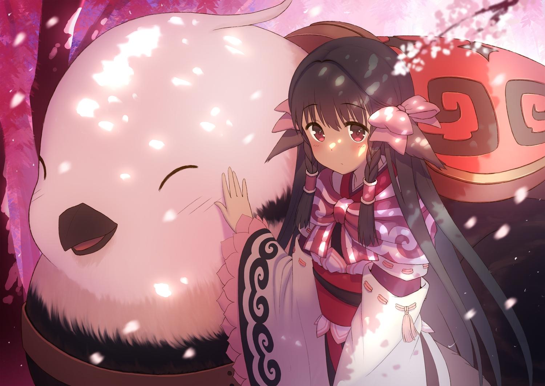 animal_ears fukuro_ko japanese_clothes kokopo rurutie_(utawarerumono) utawarerumono utawarerumono_itsuwari_no_kamen