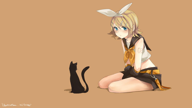 Обои для рабочего стола коты аниме
