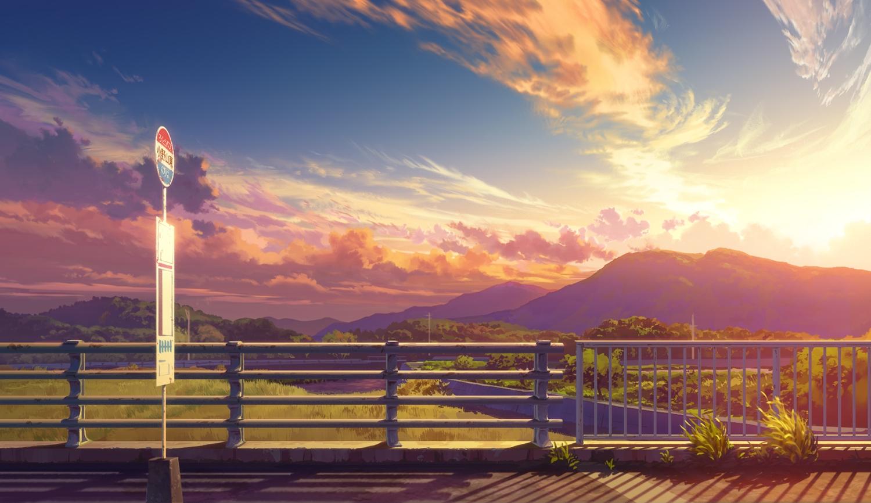bozu_(ogiyama) clouds landscape nobody original scenic sky sunset