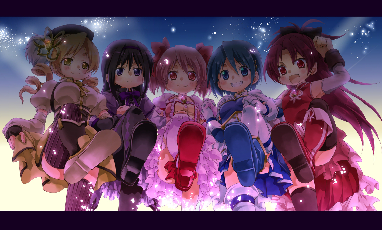akemi_homura kaname_madoka mahou_shoujo_madoka_magica mekeko miki_sayaka sakura_kyouko tomoe_mami