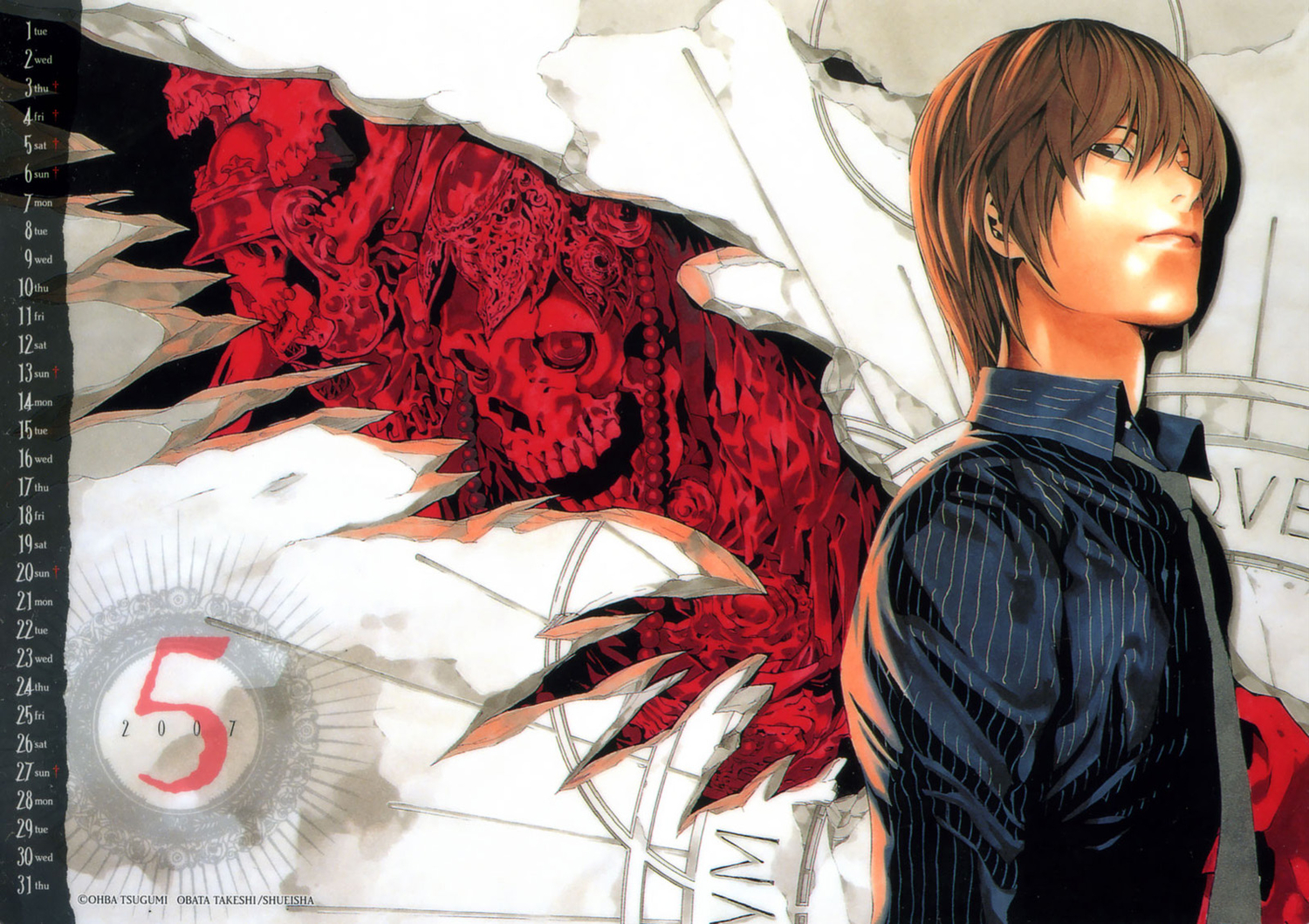 all_male calendar death_note male yagami_light