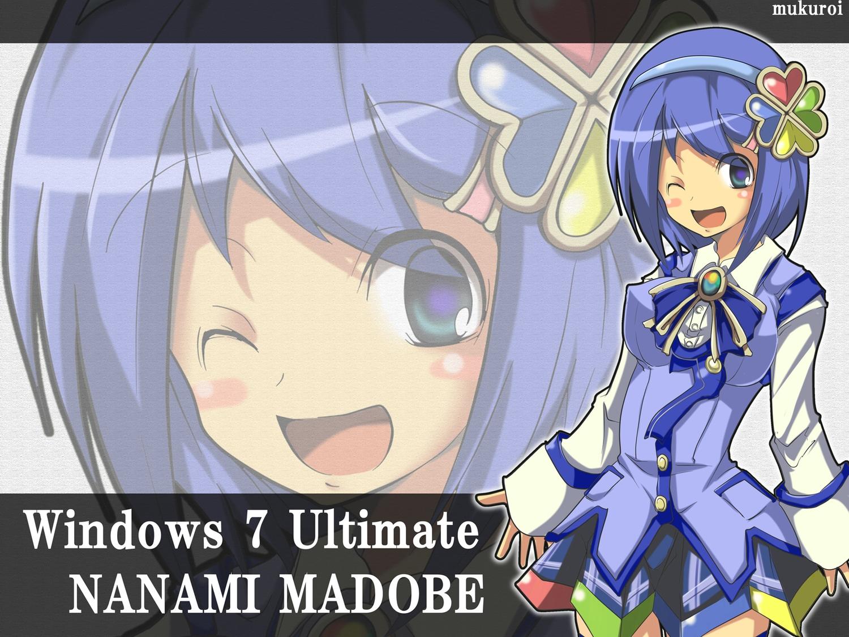 blue_hair bow madobe_nanami microsoft mukuroi os-tan purple_eyes short_hair skirt windows wink zoom_layer