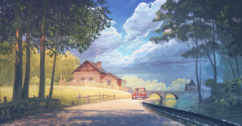 arsenixc building car original scenic watermark